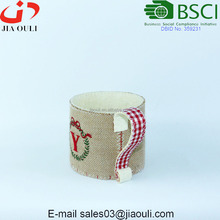Indoor planter Bags with jute Felt Cup shape Plant pot covers