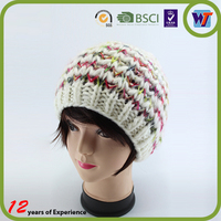 Hand Made Hat Factory Foldable Ladies Fashion Wool Knitted Hat