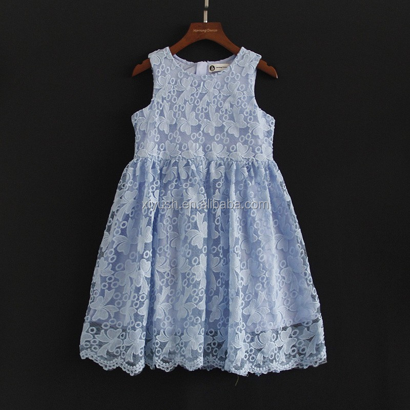 Good quality Most popular blue lace dress fabric