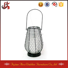 Garden Clear Glass Candle Holder Hanging Lantern for sale