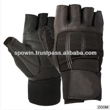 Leather Weightlifting Gloves