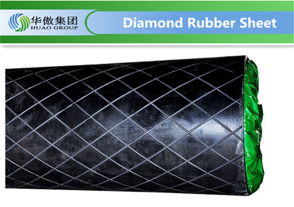diamond shaped pulley lagging rubber sheet