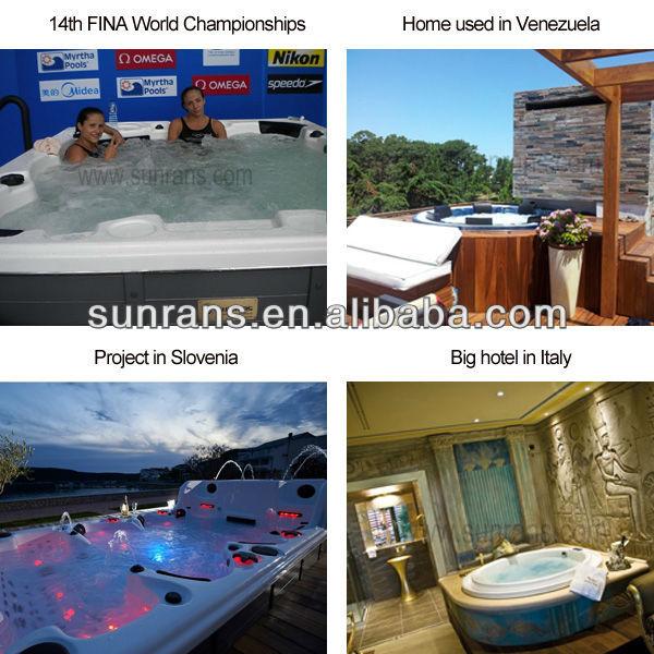 Grand jacuzzy spa de nage, acrylique grande piscine luxe spa de nage SR860
