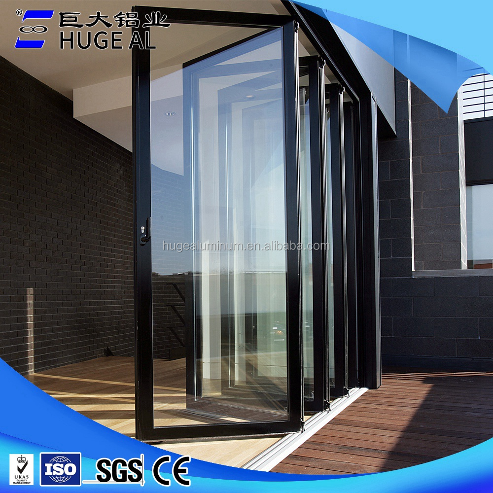 hot sale china supplier aluminum balcony folding glass <strong>door</strong>