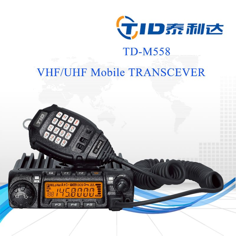 DMTF radio TD-M558 mobile transceiver CE and RoHs single band car radio 155 mhz