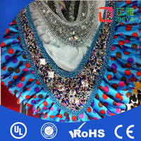 New arrival latest design handmade rhinestones women fake bead collar