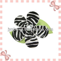 Zebra Flower hairgrips