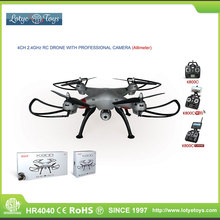 Super professional big 5.8ghz 4ch wifi rc drone with altimeter camera