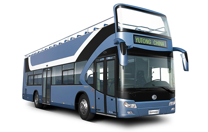 12-meter Yutong ZK6126HGB open top double decker bus for sale