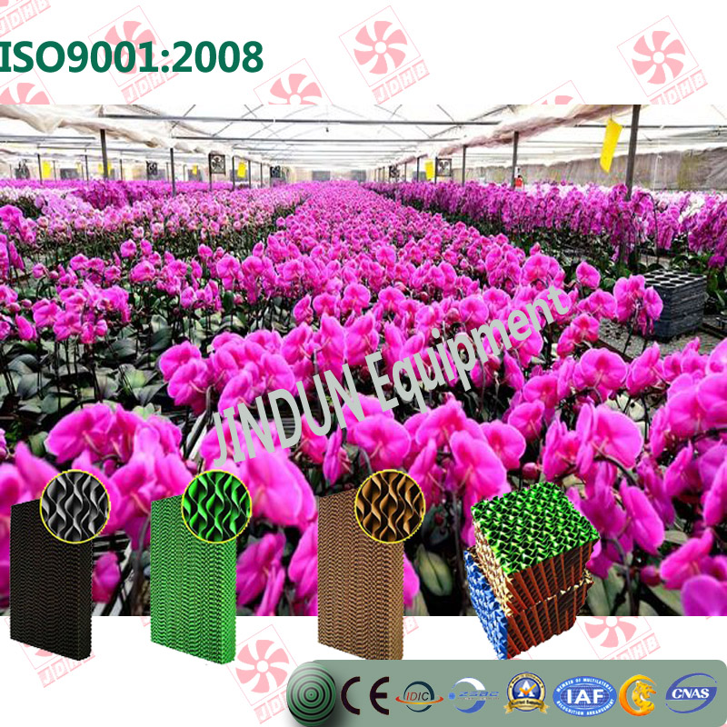wall mounted Customized energy saving green-coated brown washable Evaportative/ Water cooling pad for anthurium greenhouses