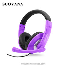 New Design Colorful Foldable wired headphones headphones big earphone gaming headphones
