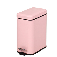 5L Stainless Steel Pink Indoor Fashionable Foot Pedal Bin Waste Bin Trash Can