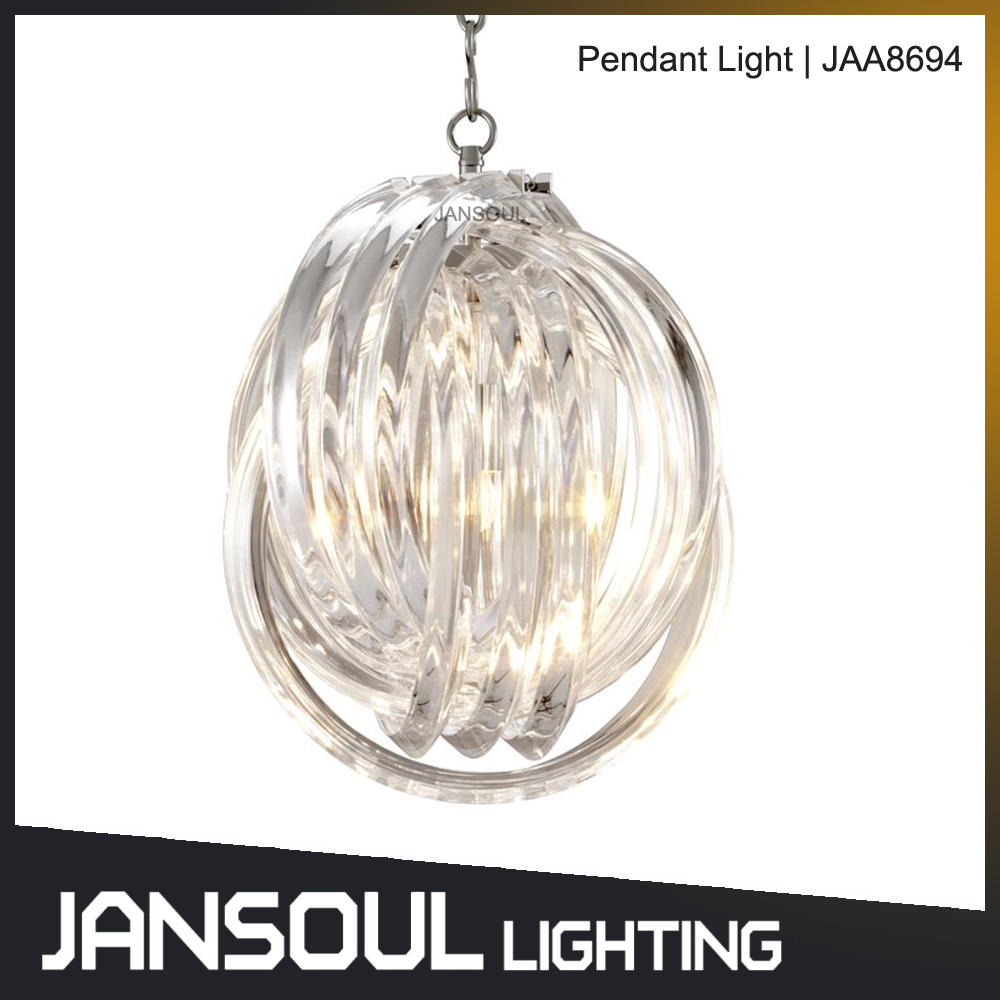 zhongshan unique design led crystal glass ball pendant lamp