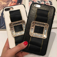 New Products Bling Diamond PU Leather Wallet Flip Stand Card Holder Phone Case For OPPO R9S