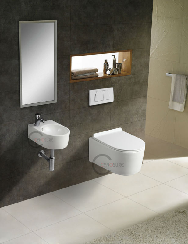 Slim seat cover small wall hung toilet view small wall for Small wc design