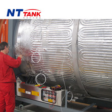 20' shipping stainless steel iso tank container steam heating