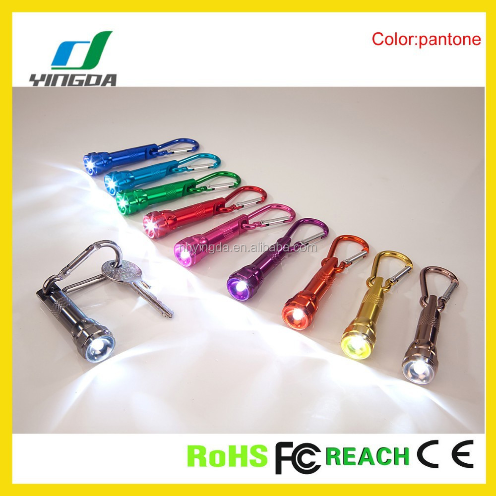 aluminum 1led carabiner zhejiang light led flashlight torchs