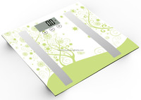 Digital Bathroom Scale - Measures Weight, Body Fat, Water, & Bone Mass 400 Lbs Capacity