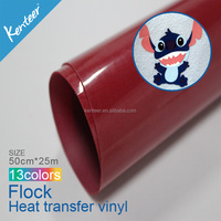 Kenteer 3D Heat Transfer Flock Flocked Printing Vinyl