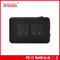 uk 2 pin 13a plug 4 USB charge ports perfect for travel independent rocker switch
