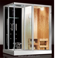 steam shower room with sauna