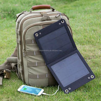 Foldable solar laptop charger,7W backpack foldable laptop solar charger for outdoor hiking