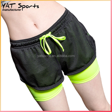 Top quality yoga shorts ladies short hot pants sportswear running shorts