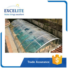 Excelite outdoor above ground swimming pool retractable cover roof