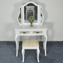 Antique bedroom furniture solid wood white dressing table modern