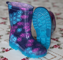 Kids Clear Transparent Rain Boots Wuth LED Light