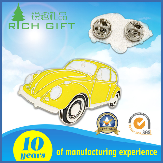 Made in china custom vintage silver plating metal crafts soft enamel pin badges with butterfly clutch