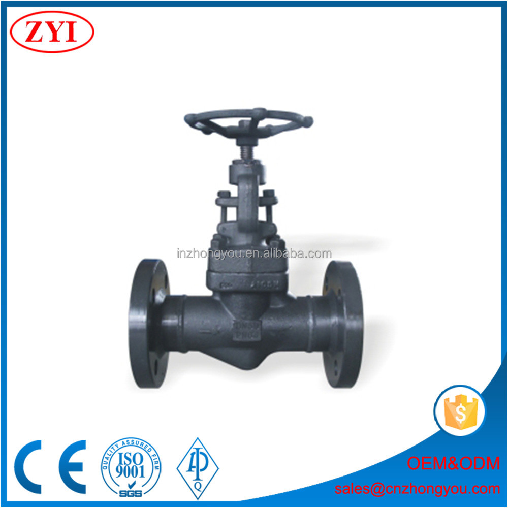 Reliable manufacturer low price flanged end forged globe valve