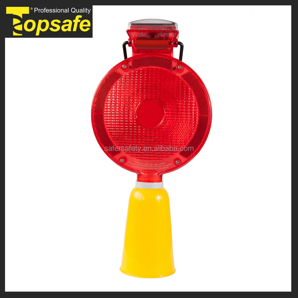 2014 new style solar power warning lamp for cone