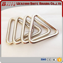 Baite detal shape strap accessories contacting hardware welded triangle ring