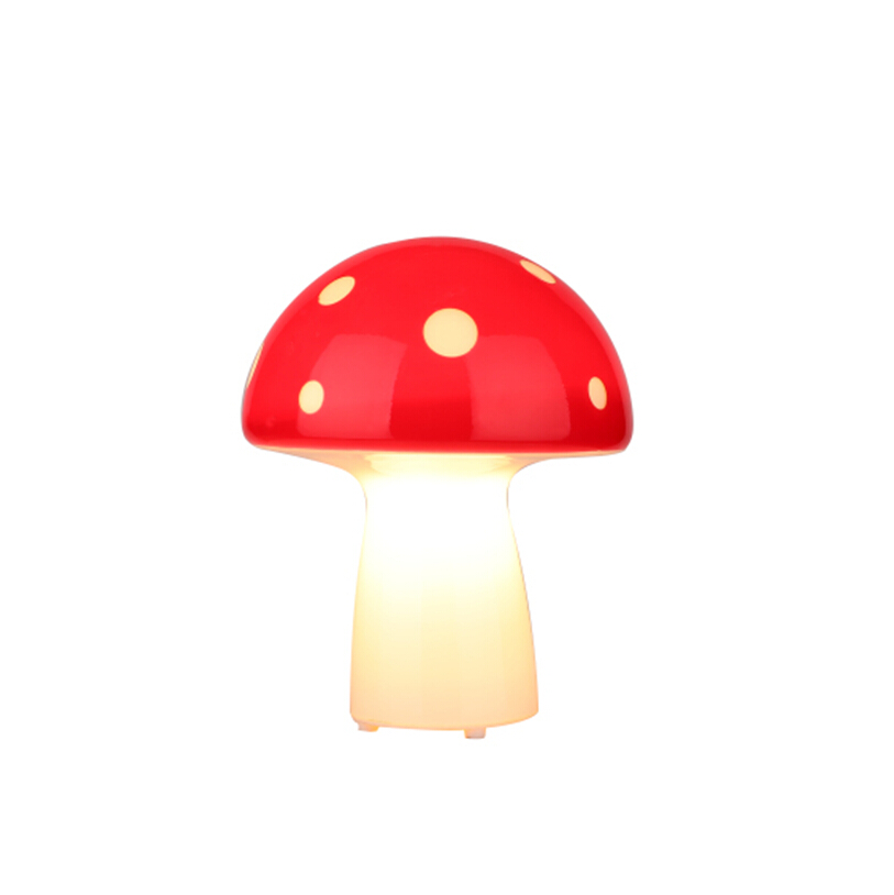 modern kids glass mushroom table lamp, night light