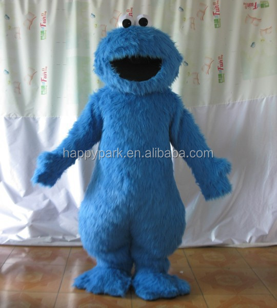 blue cookie monster adult costume