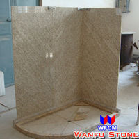 Hot Yellow Granite Bathroom Tub Surround For Hotel
