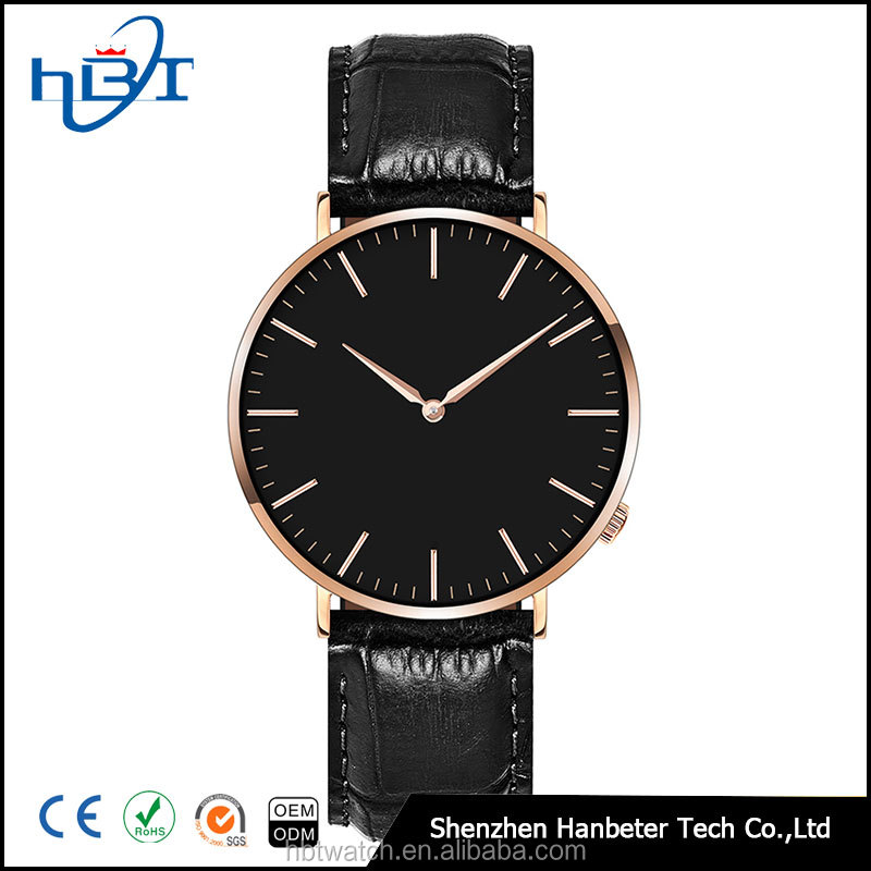 Shenzhen hanbeter japan movement watches men 40mm dail with your own logo