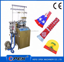 OPEK scarf knitting machine for making football cheerleading club scarves