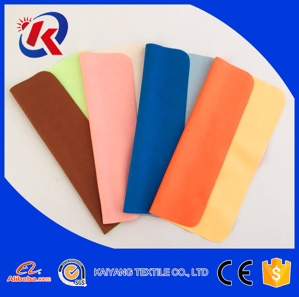 popular new design 2017 microfiber cleanning cloth different color on two sides