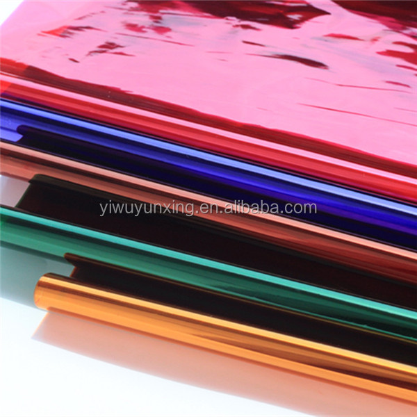 color cellophane paper sheet/roll for candy/sugar/food packing