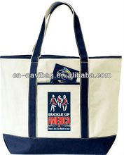 canvas tote bags with zipper closure(NV-C170)