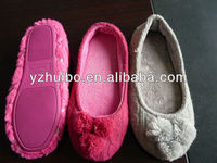 2012 women new style knitted ballerina dancing shoe with sequin