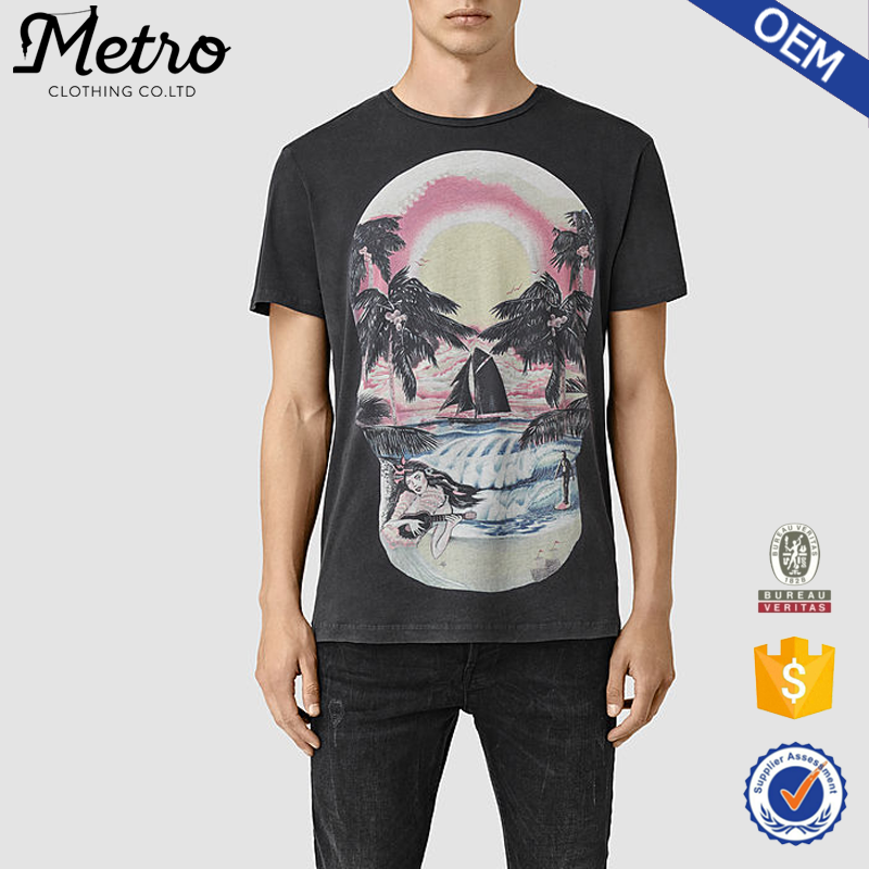 latest design wholesale mens custom printing crew neck t shirt