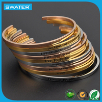 Hot Sale Stainless Steel Bangle Bulk Custom Jewelry