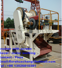 China manufacture wholesale 50% discount of small new mobile stone crushing plant,portable new mobile rock ore crusher