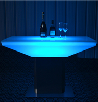 Hot sell RGB color changing led table rechargeable light up bar LED table