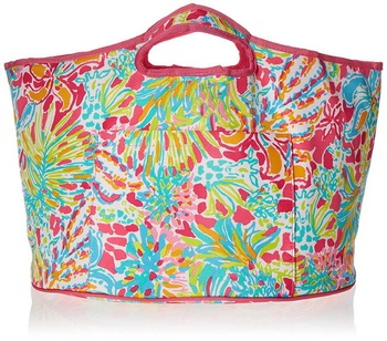 Custom full print large insulated lunch tote cooler bag for woman