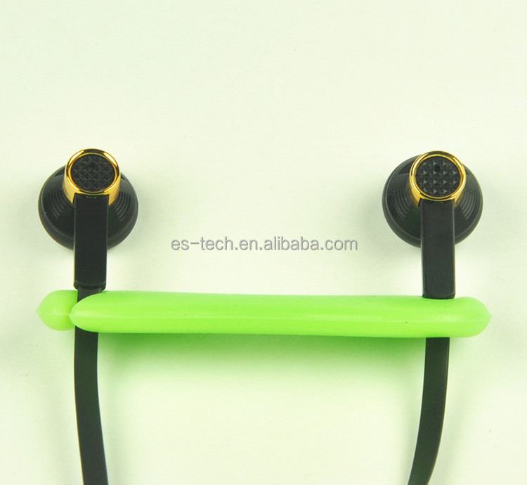 Smartphone mp3 mp4 used flat cable earphone with mic and speaker