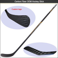 NEW ARRIVAL 3K/12/UD Toray full Carbon Fiber ice hockey stick , OEM hockey stick composite ice